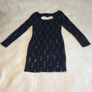 Dresses & Skirts - SALE! Navy Blue Sequins Cocktail Dress